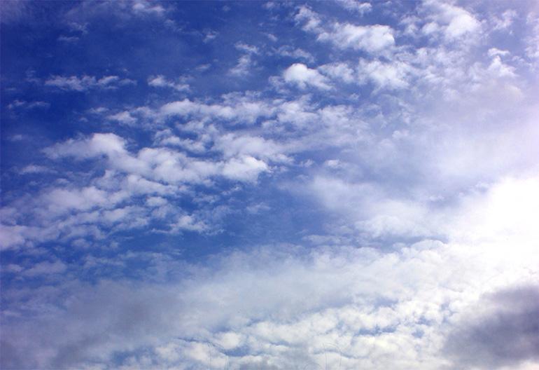 blick in die wolken