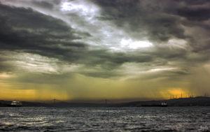 Blick in die Ferne am Bosporus