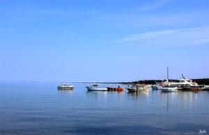 Boote am Morgen Kroatien