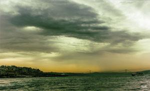Bosporus im Regen