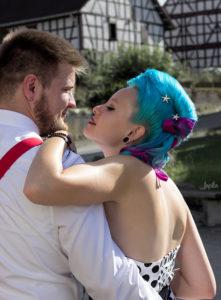 Hochzeitsbild eines jungen Paares
