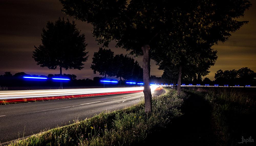 Lichter eines Polizeiwagens