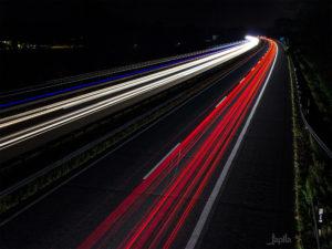 Nacht auf der Autobahn