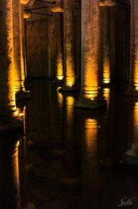 Säulen eines Wasserspeichers