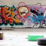 Bunte Graffiti-Kunst