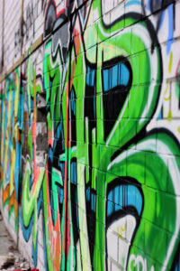 Grünes Graffitti