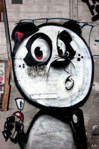 Panda-mit-Spraydose